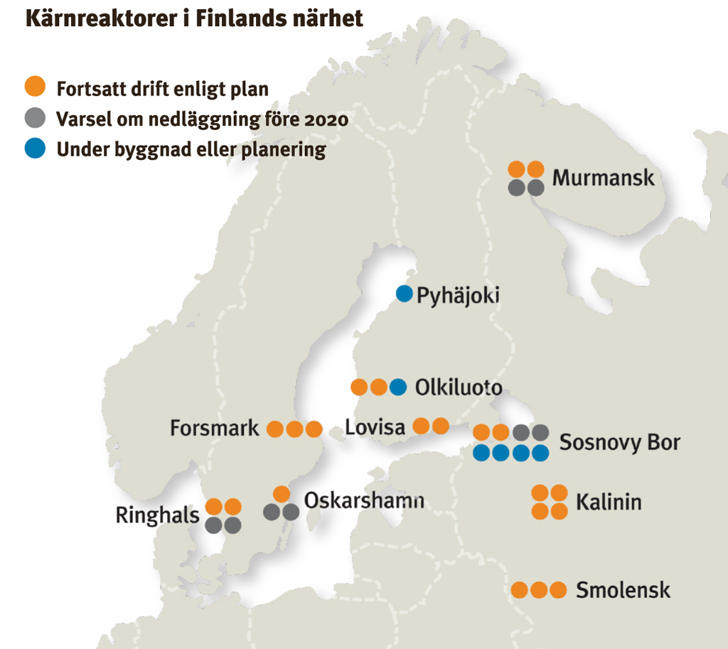 kärnkraftverk i europa karta Finland beroende av svensk kärnkraft | Katternö Digital | 1 • 2016 kärnkraftverk i europa karta