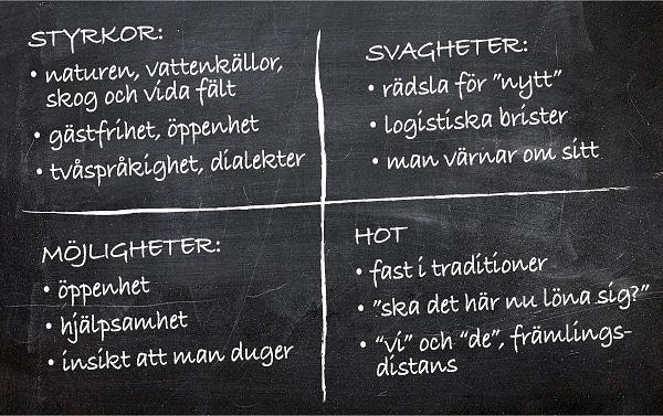 Monica Haga och Britta Nygårds mini-swot