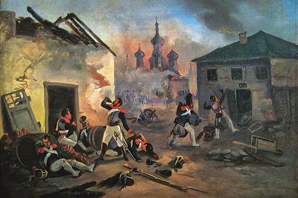 Franska soldater i Moskva