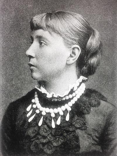 Eva Topelius i unga år.