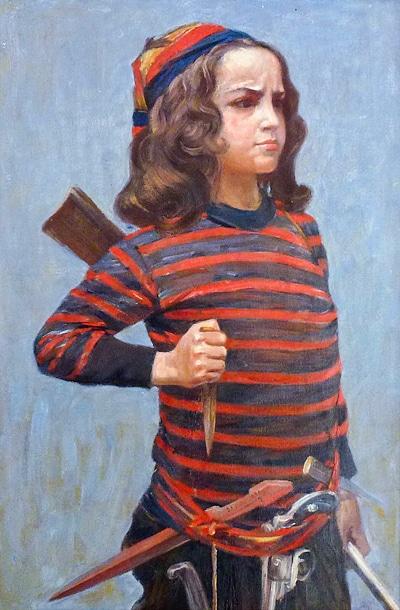 Fausto som pirat, målad av Acke.