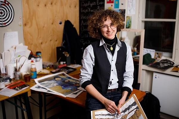 Frankie Sleptsov, konststuderande